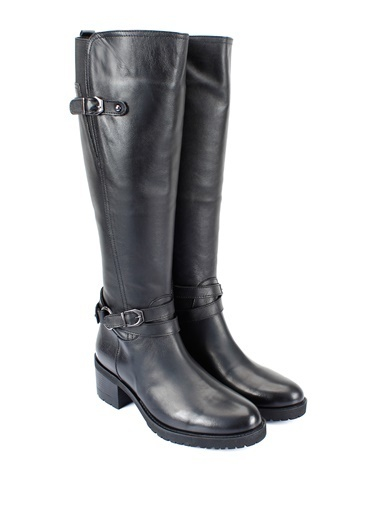 G.Ö.N. Deri Çizme Siyah